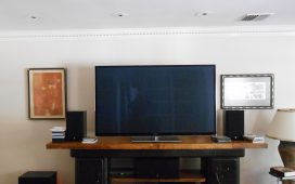 Beth Ayer Design custom designed entertainment center