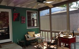 Beth Ayer Design screen porch adds wimsey