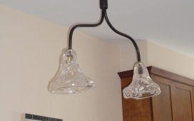 Beth Ayer Design creates moder lighting with vintage glass