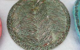 Beth Ayer Design--handbuilt textured platter