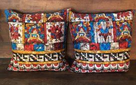 custom vintage hand printed fabric